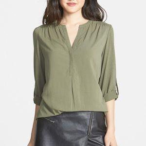 Pleione • Army Green Tunic Top